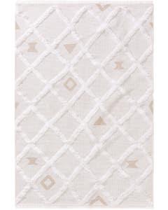 Washable Cotton Rug Oslo Cream_Taupe