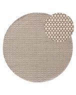Round Wool Rug Hector Grey