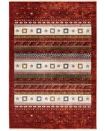Rug Mythos Multicolour/Red