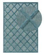 In- & Outdoor Rug Bonte Turquoise