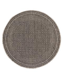 In- & Outdoor Round Rug Cleo Charcoal