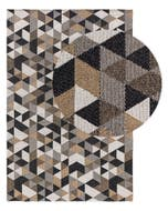 Washable Cotton Rug Cooper Beige/Black