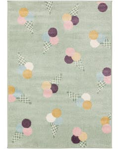 Kids rug Tommy Multicolour/Green