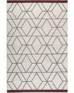 Wool rug Hexagon Cream