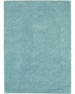 Shaggy rug Swirls Light Blue