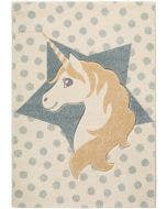 Kids rug Justin Unicorn Light Blue
