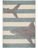 Kids rug Justin Shark Grey