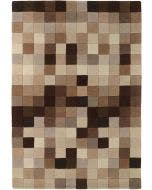 Wool rug Funk Brown