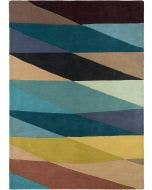 Wool rug Aurora Multicolour/Blue