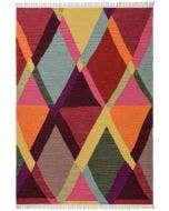 Wool rug Ella Multicolour/Red