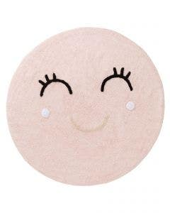 Washable Kid´s Rug Inka Smiling Face Rose