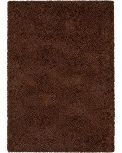 Shaggy rug Swirls Brown
