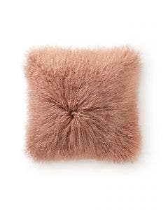 Long hair sheepskin cushion cover wilson Rose