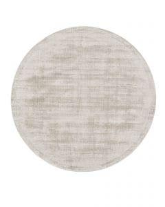 Viscose Rug Round Nova Light Grey