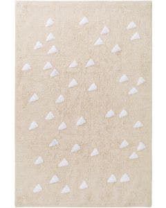 Washable Kid´s Rug Inka Triangles Beige