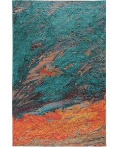 Flat Weave Rug Stay Turquoise