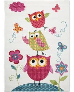 Kids rug Noa Kids Owls Family Multicolour