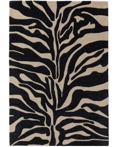 Wool rug Animal Black/White