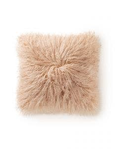 Long hair sheepskin cushion cover wilson Beige