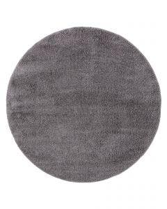 Shaggy Round Rug Soda Dark Grey