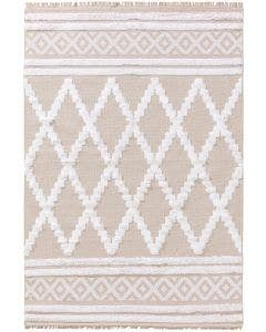 Washable Cotton Rug Oslo Beige