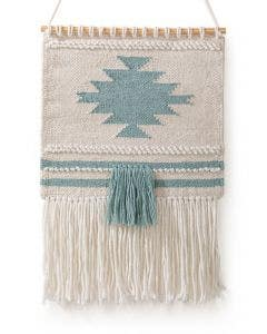 Wall Hanging Mika Cream/Turquoise