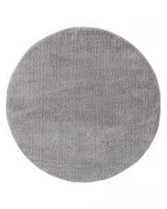 Shaggy Round Rug Soda Grey