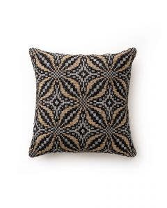 Cushion Cover Nizza Hellbraun_Schwarz