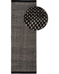 Wool rug Rocco Black/White