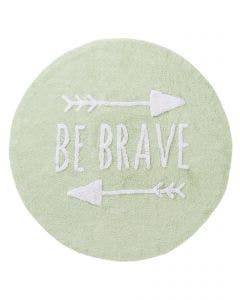 Washable Kid´s Rug Inka Be Brave Light Green