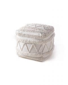 In- & Outdoor Pouf Toni Ivory