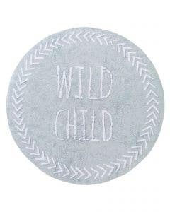 Washable Kid´s Rug Inka Wild Child Light Blue