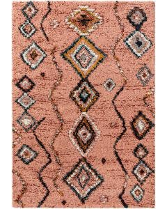 Shaggy rug Gobi Rose