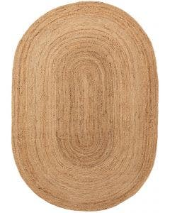 Jute Rug Oval Jutta Light Brown