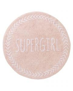 Washable Kid´s Rug Inka Supergirl Rose