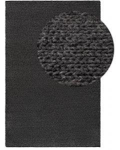 Wool rug Uno Grey
