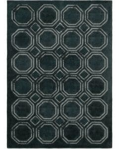 Wool rug Sky Dark Green