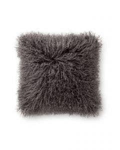 Long hair sheepskin cushion cover wilson Grey