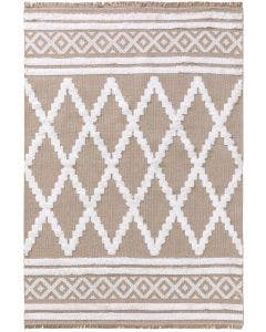 Washable Cotton Rug Oslo Taupe