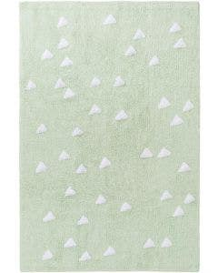 Washable Kid´s Rug Inka Triangles Light Green
