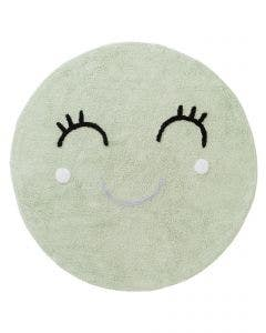 Washable Kid´s Rug Inka Smiling Face Light Green