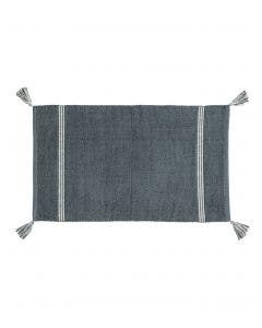 Bath Rug Dust Dark Blue