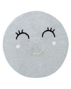 Washable Kid´s Rug Inka Smiling Face Light Blue