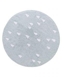 Washable Kid´s Rug Inka Triangles Light Blue