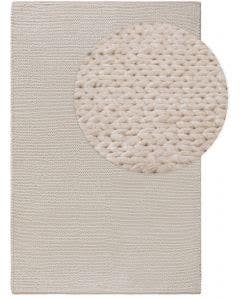 Wool rug Uno Cream