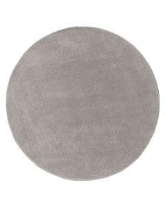 Wool rug Bent Plain Grey
