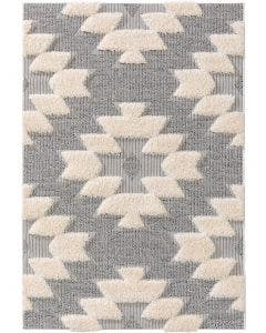 Kids rug Carlo Grey/White