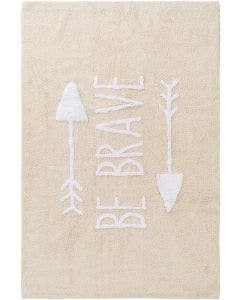 Washable Kid´s Rug Inka Be Brave Beige