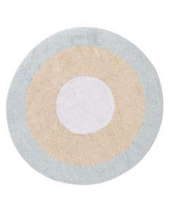 Washable Kid´s Rug Inka Tricolore Light Blue