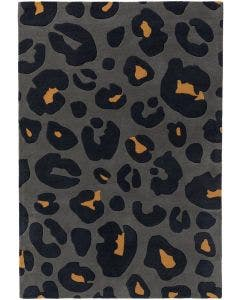 Wool rug Animal Blue/Yellow